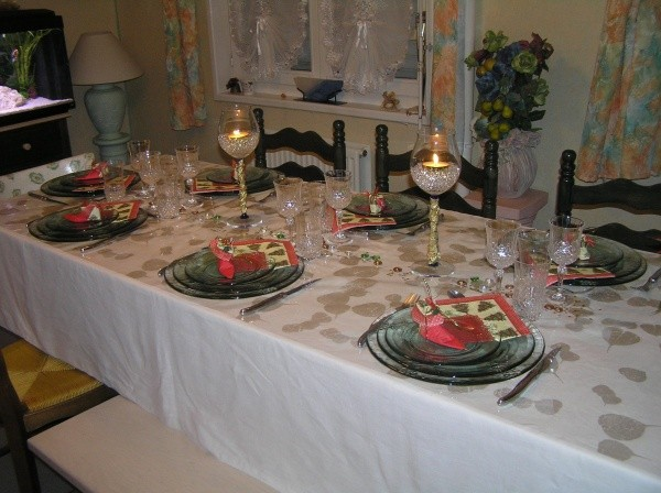 Delphine table de noel BETHUNE